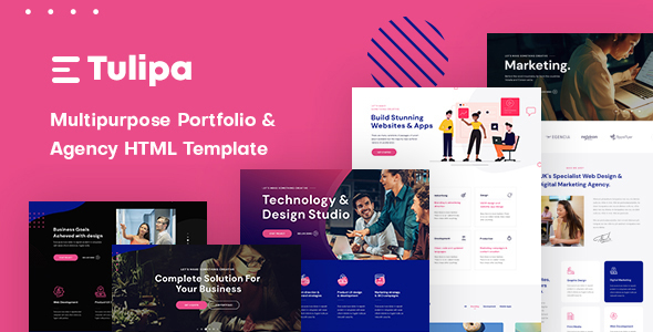 Tulipa - Multipurpose Portfolio & Agency HTML Template