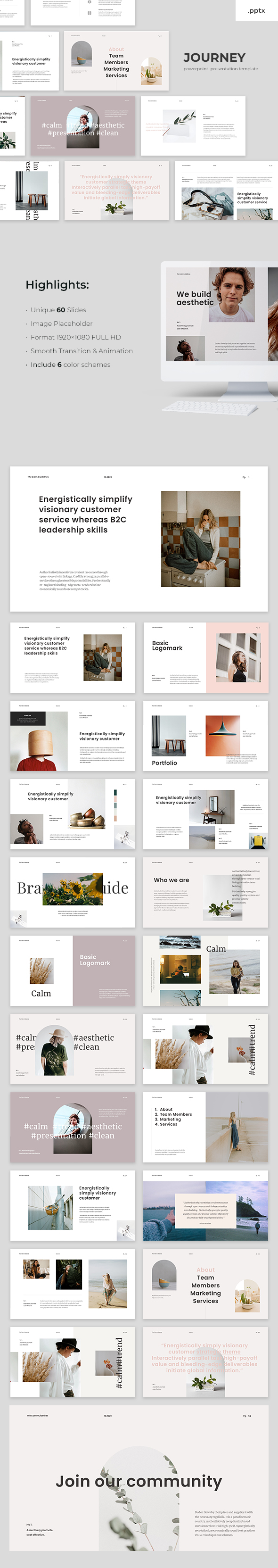 The Calm - Powerpoint Template