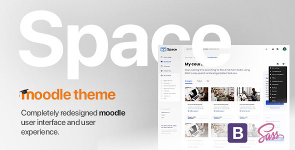 moodle theme for LMS