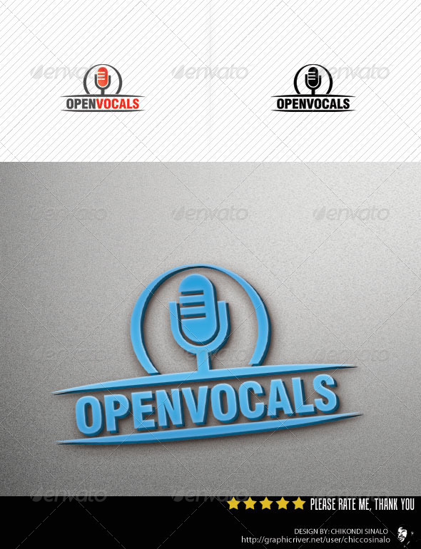 Open Vocal Logo Template - Abstract Logo Templates