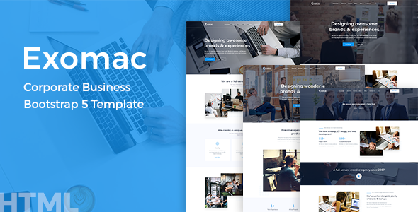 Exomac – Corporate Business Bootstrap 5 Template