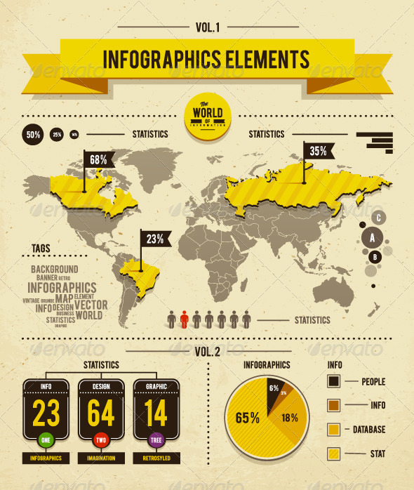 Vector set of infographics elements - Infographics