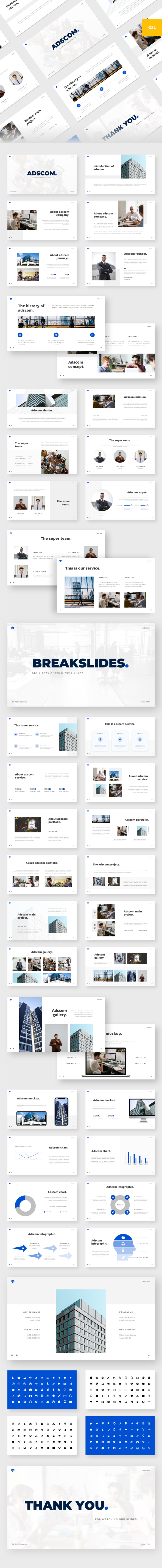 Adscom - Business Google Slides Template