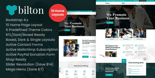 Bilton – Business Consulting and Professional Services HTMLTemplate