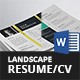 Landscape Resume/CV Bundle - 2in1