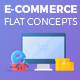 E-Commerce Flat Design Concepts