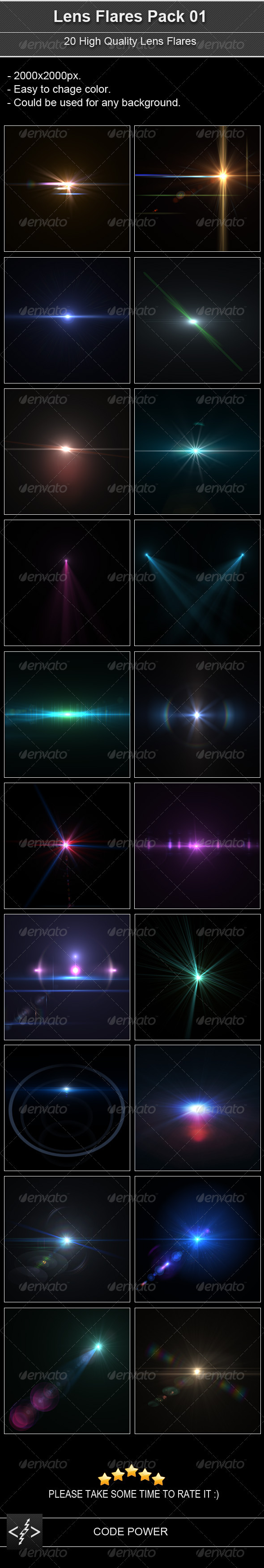 Lens Flares Pack 01 - Decorative Graphics