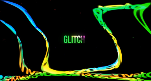 Colorful Glitch Logo Reveal