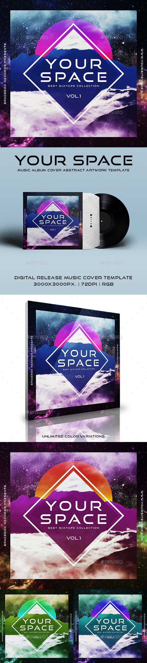 Your Space - Music Album Cover Abstract Artwork Template