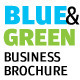 Blue And Green Business Brochure - InDesign A4 - GraphicRiver Item for Sale