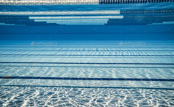 Olympic Swimming pool under water background. - Stock Photo - Images