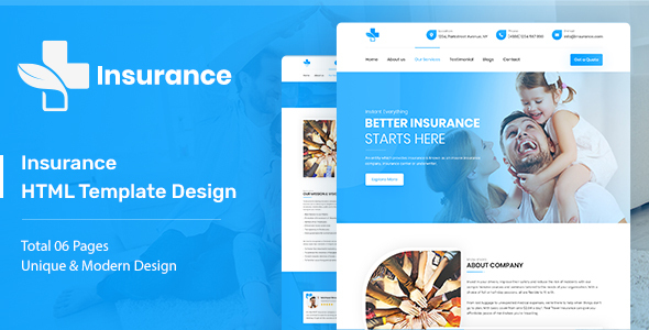 Insurance – HTML Template