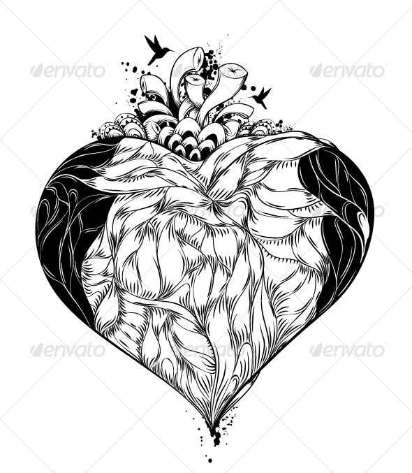 illustration of heart - Abstract Conceptual