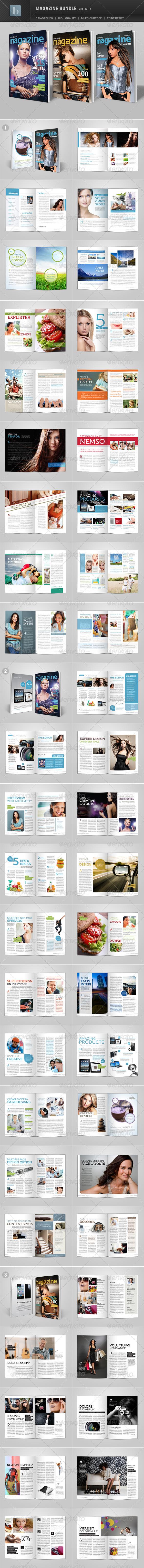 Magazine Bundle | Volume 1 - Magazines Print Templates
