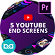 YouTube End Screens Vol.4 | Premiere Pro MOGRT - VideoHive Item for Sale