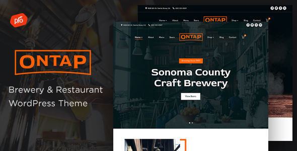 Ontap – Brewery & Restaurant Theme