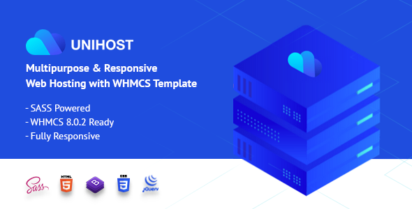 Unihost | Responsive Web Hosting and WHMCS Template