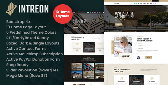 Intreon – Interior & Architecture HTML Template
