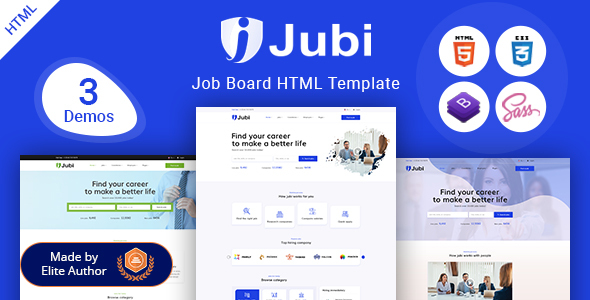 Jubi – Job Board HTML Template