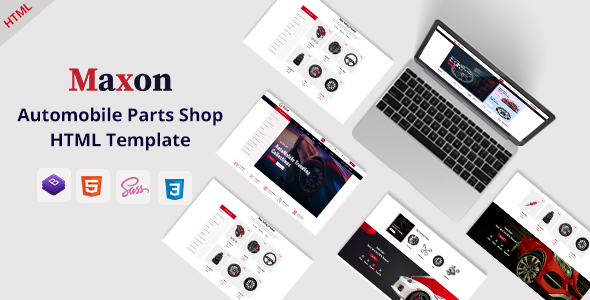 Maxon – Auto Parts Shop HTML Template