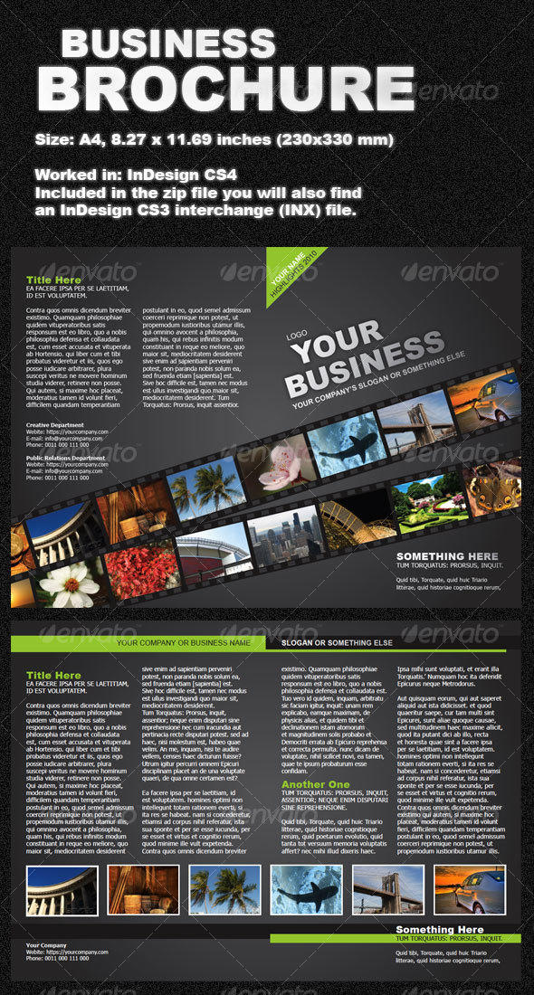 Green Business Brochure two-fold - Corporate Brochures