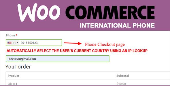 WooCommerce International Phone Masking