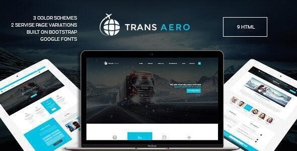 Wonderful TransAero - Logistics HTML  Template