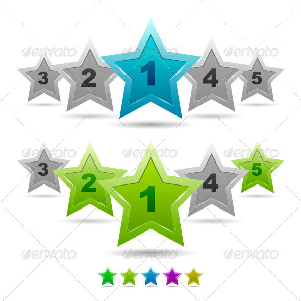 Vector Rating Stars - Decorative Symbols Decorative