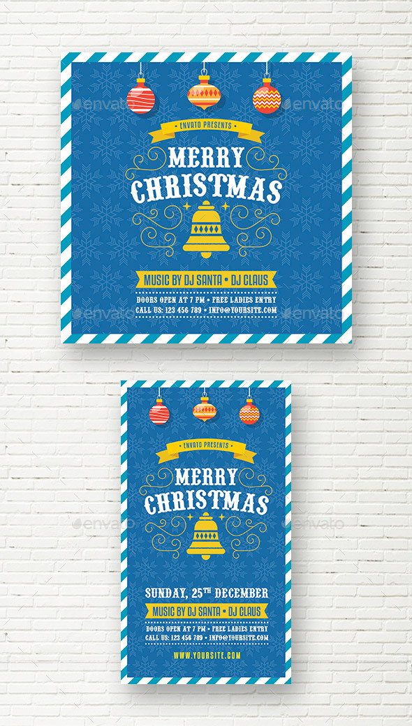 Merry Christmas  Party Social Media Template