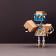 The concept of autonomous robotic delivery of parcels, goods and postal packages. - PhotoDune Item for Sale