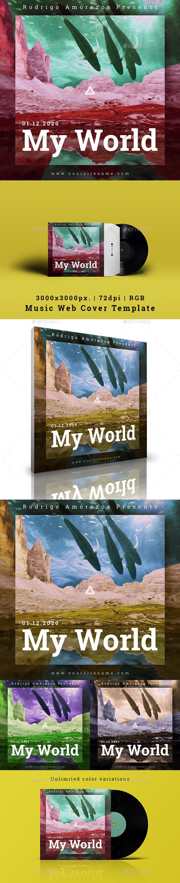 My World - Music Album Cover Fantasy Artwork Template