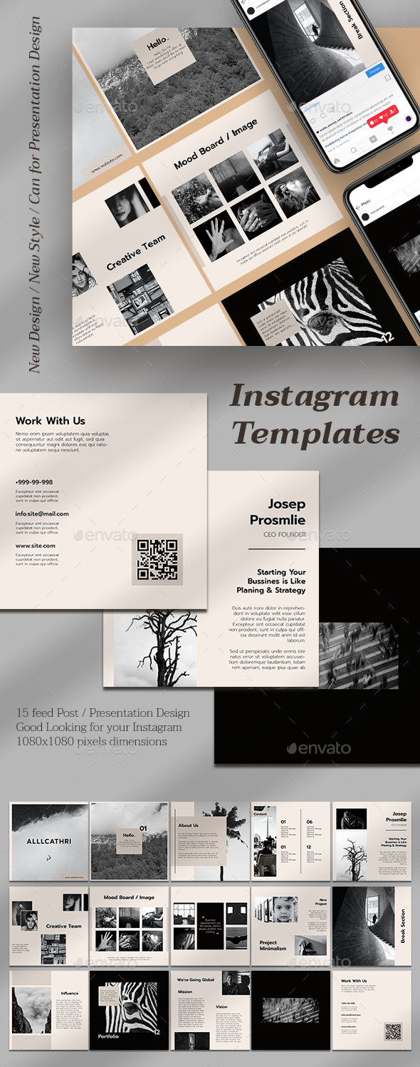 Corporate Instagram Feeds Templates