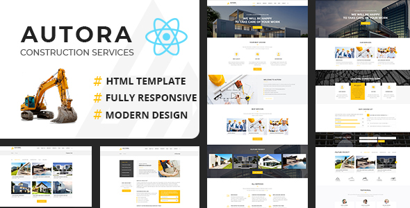 Autora – React JS Construction Business Template