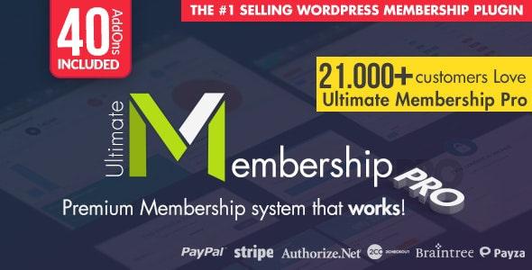Ultimate Membership Pro - WordPress Membership Plugin Nulled