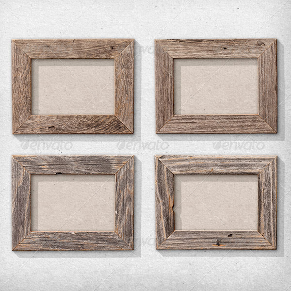 01_isolated natural wood picture frames 01jpg - Natural Wood Frames