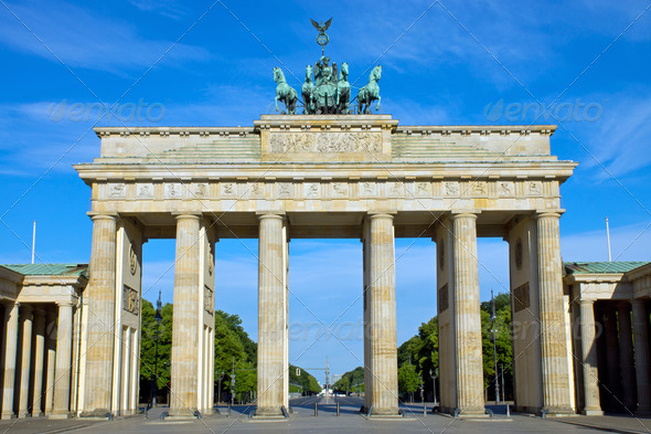 The Brandenburger Tor in Berlin - Stock Photo - Images
