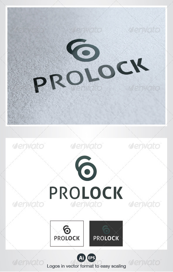 Pro Lock Logo - Vector Abstract