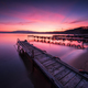 Sea sunset above wooden piers - PhotoDune Item for Sale