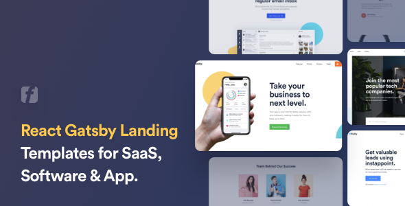 Finity – React Gatsby Landing Page Template for SaaS & Startup