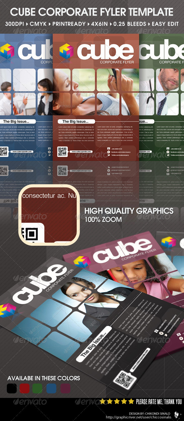 Cube Corporate Flyer Template - Corporate Flyers