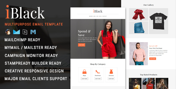 iBlack - Black Friday Email Newsletter Template