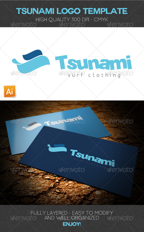 Tsunami Logo Template - Humans Logo Templates