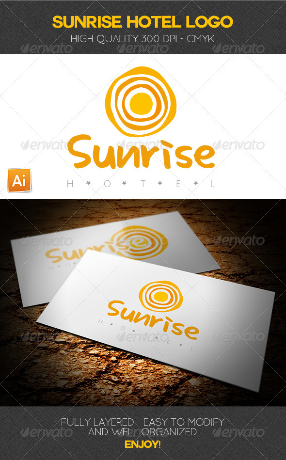 Sunrise Hotel Logo Template - Abstract Logo Templates