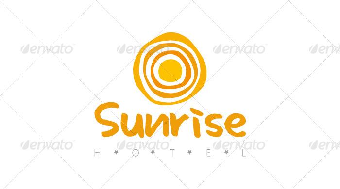 Sunrise Hotel Logo Template