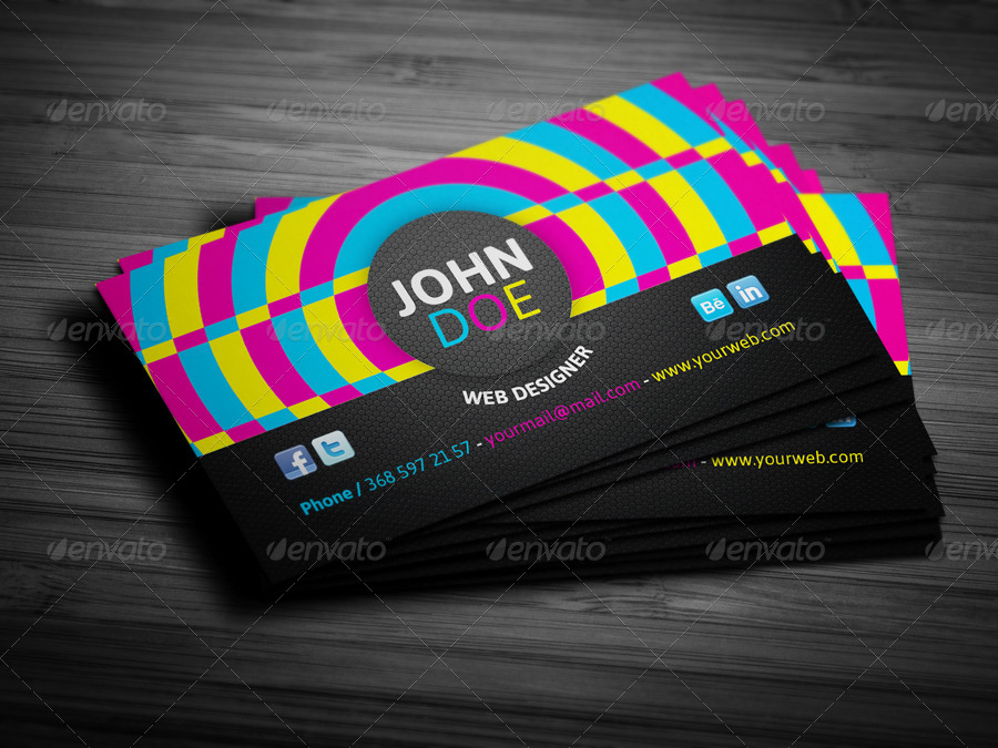 colorful personal cards by juhrrex graphicriver