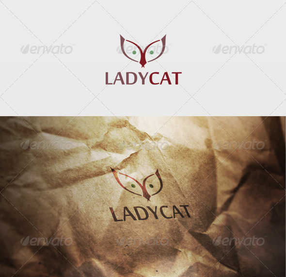 Ladycat Logo - Animals Logo Templates