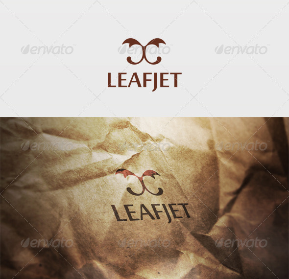Leafjet Logo - Vector Abstract