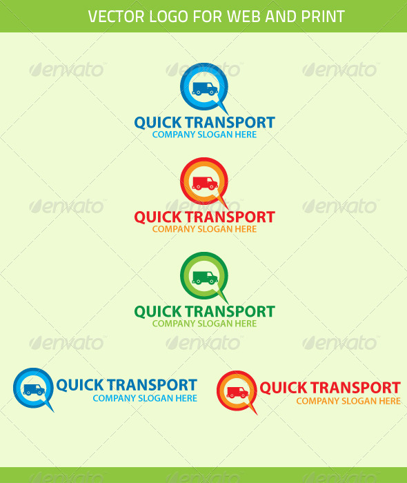 Quick Transport Logo Template - Objects Logo Templates