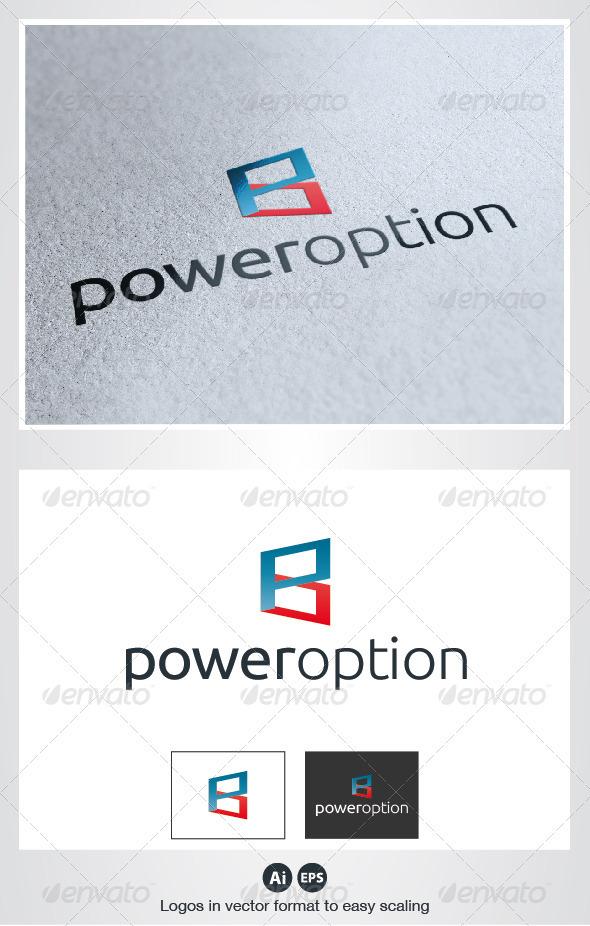 Power Option Logo - Letters Logo Templates