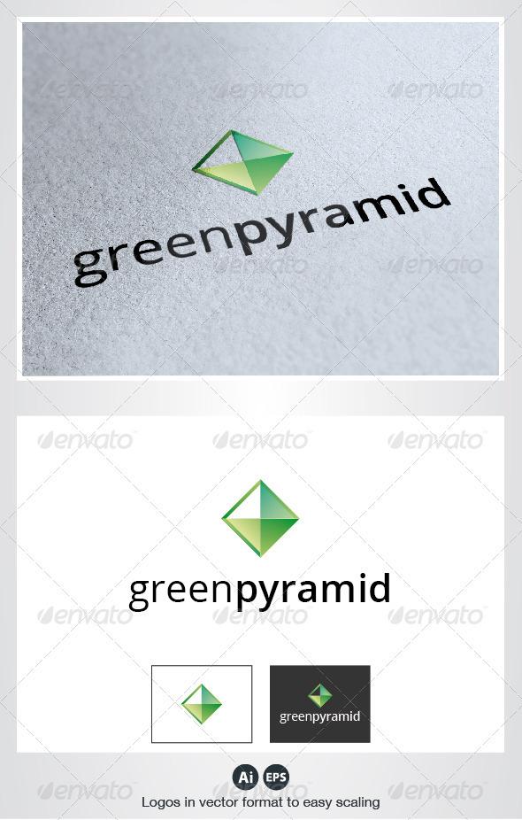 Green Pyramid Logo - Symbols Logo Templates